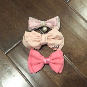 Other - THREE Hair Bows